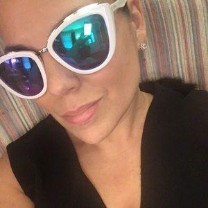 White/Blue- Diff Women's Sunglasses